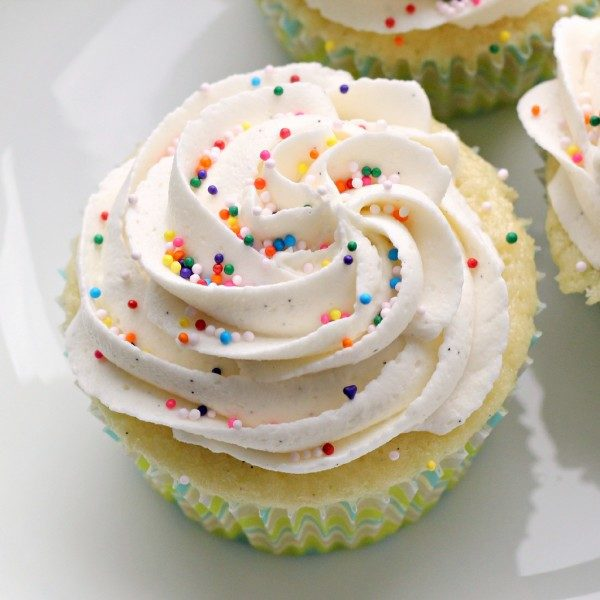 Whipped Vanilla Cupcakes (Set of 12)