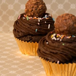 Nutella and Hazelnut Cupcakes (Set of 12)