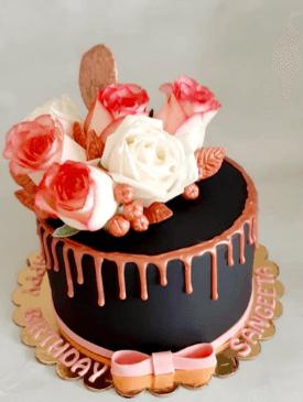 Rose Gold Drip Cake