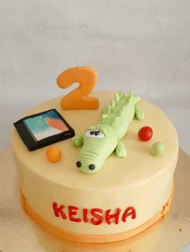Baby Crocodile Birthday Cake