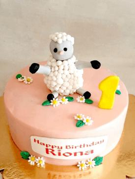Baa Baa Black Sheep Cake