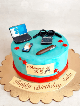 Work From Home Theme Cake