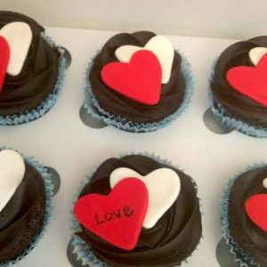 I Love You Chocolate cupcakes
