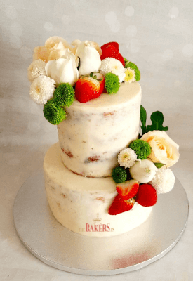 Two tier Rustic Naked Cake