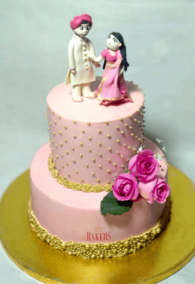 Couple Figurine Wedding Cake