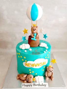 Teddy Hot Air Balloon Cake