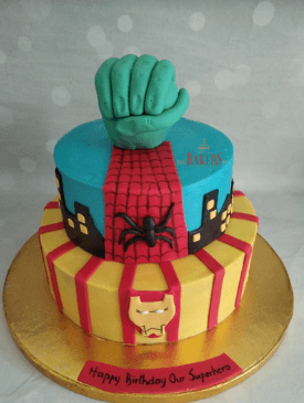 Spiderman Ironman Cake