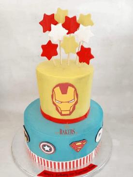 Two Tier Superhero Cake