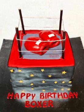 Boxing Theme Cake