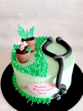 Doctor & Gardening Cake