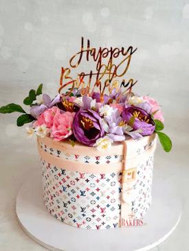 Floral Louis Vuitton Cake