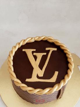 Gold Louis Vuitton Cake