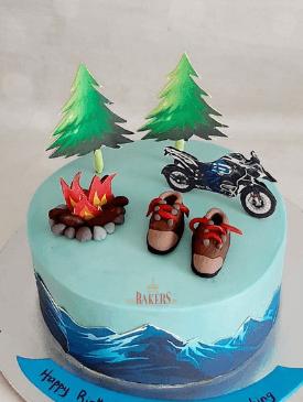 Mountain Hiking Cake