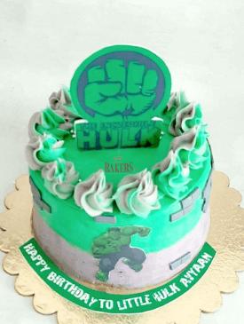 Hulk Superhero Cake