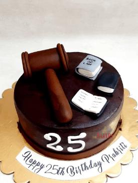 Lawyer Theme Chocolate Cake