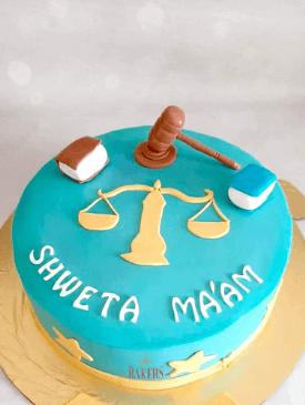 Lawyer Theme Cake
