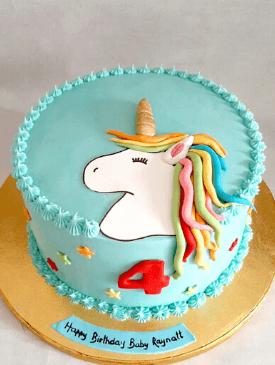 Minimal Fondant Unicorn Cake